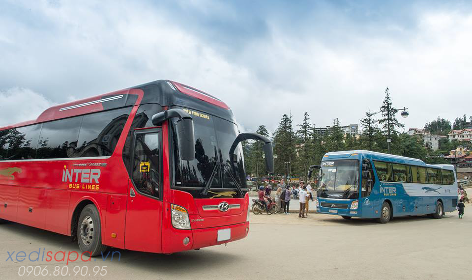 sapa bus ticket - interbus line bus